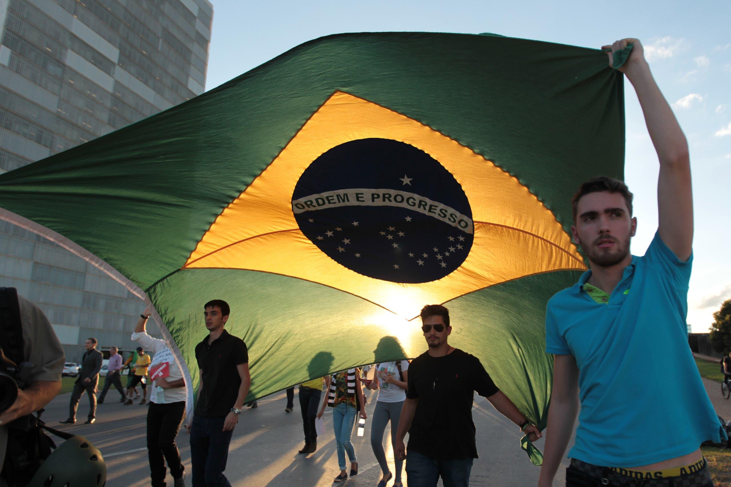 Protest for Brazil President's impeachment. (AP)