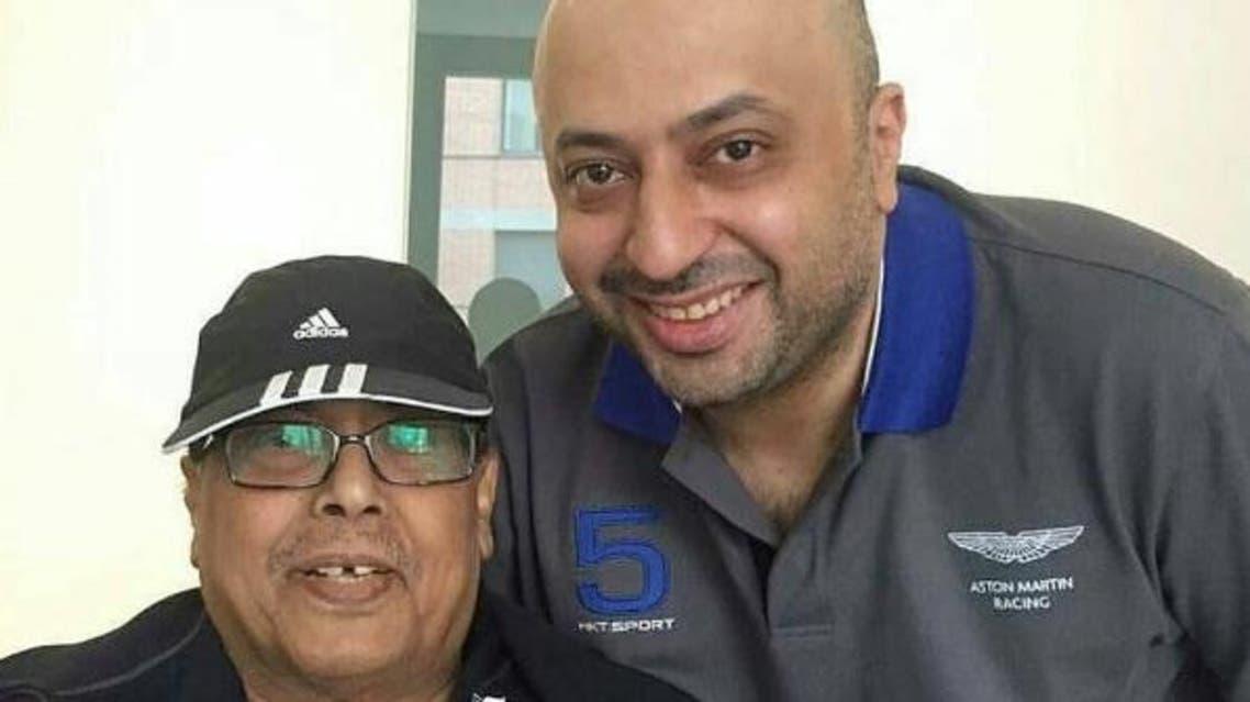 ابو بكر سالم مع نجله أحمد في ميونيخ
