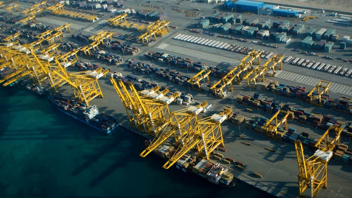 Jebel Ali port in Dubai. (AP)
