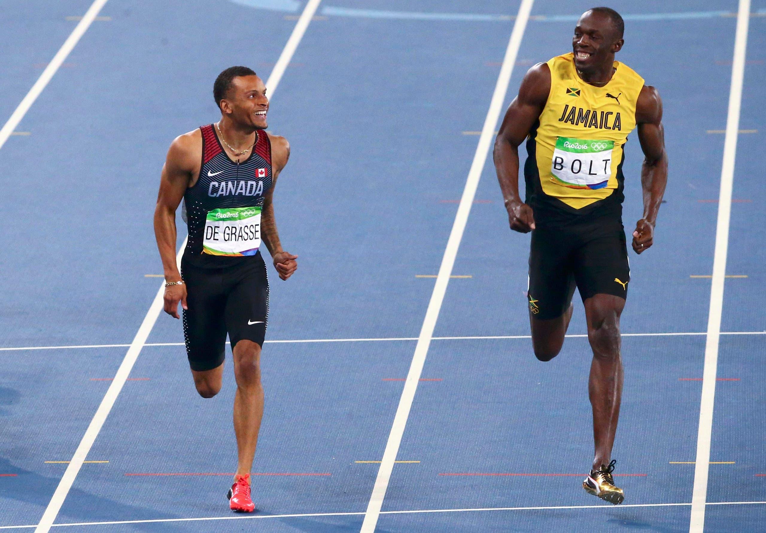 بولت ودو غراس خلال السباق
