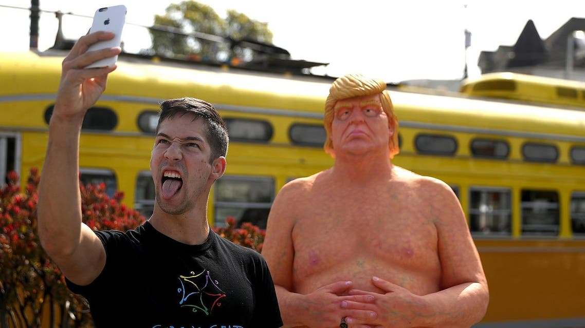 naked trump AFP