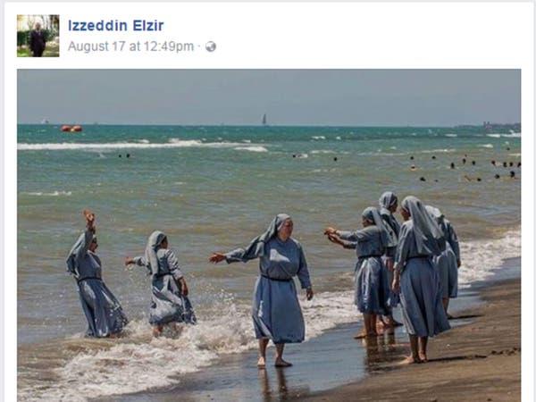 إمام فلورنسا يرد على حملة البوركيني بصور لراهبات بالبحر