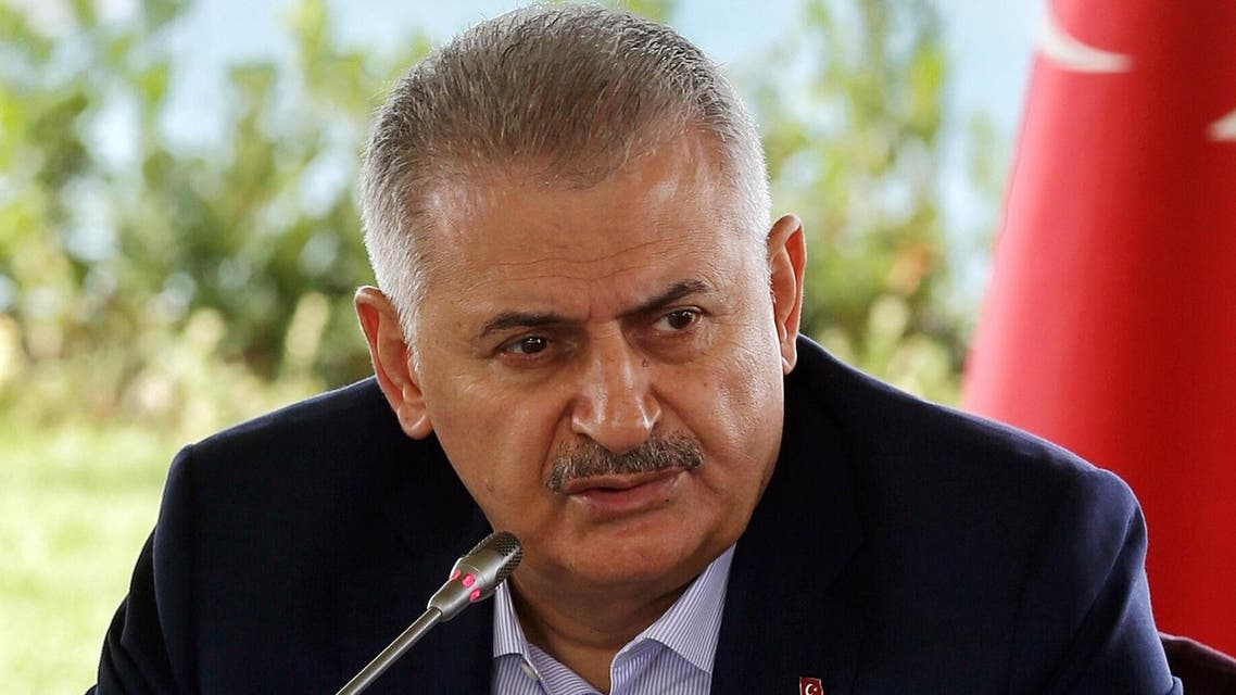 Turkish Prime Minister Binali Yildirim speaks during a meeting with foreign media representatives in Istanbul, Saturday, Aug. 20, 2016. (AP)