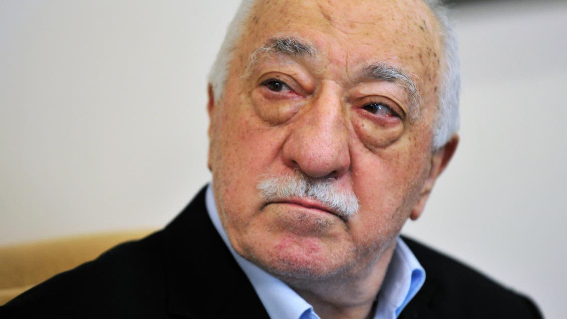 In this file photo dated Sunday July, 2016, Islamic cleric Fethullah Gulen speaks to members of the media at his compound, in Saylorsburg, Pennsylvania, USA.