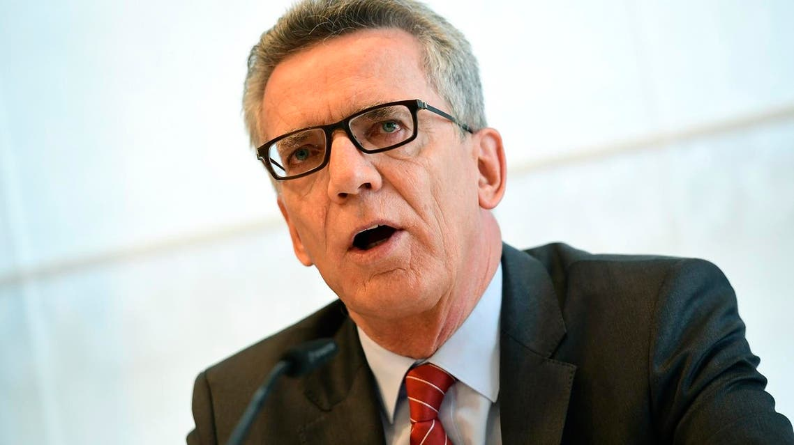 Thomas de Maiziere said internet software was able to determine whether persons shown in photographs were celebrities or politicians