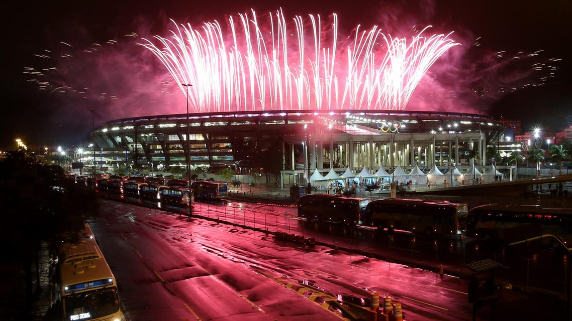 Fireworks explode during the closing ceremony. (Reuters)