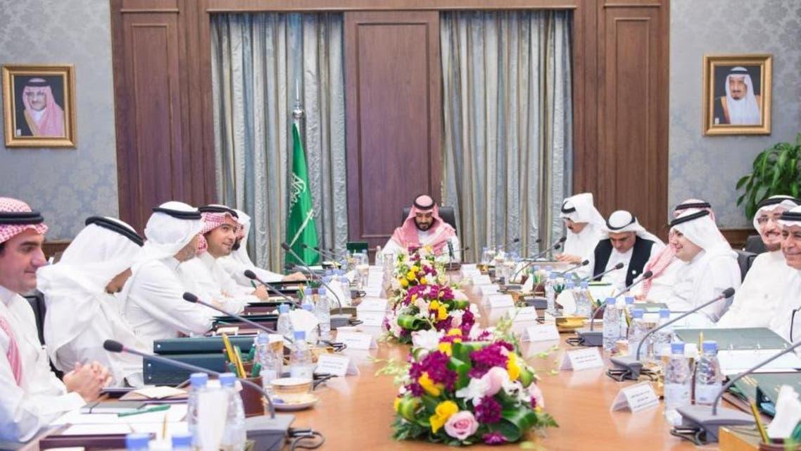الأمير محمد بن سلمان مع مجلس الشؤون الاقتصادية