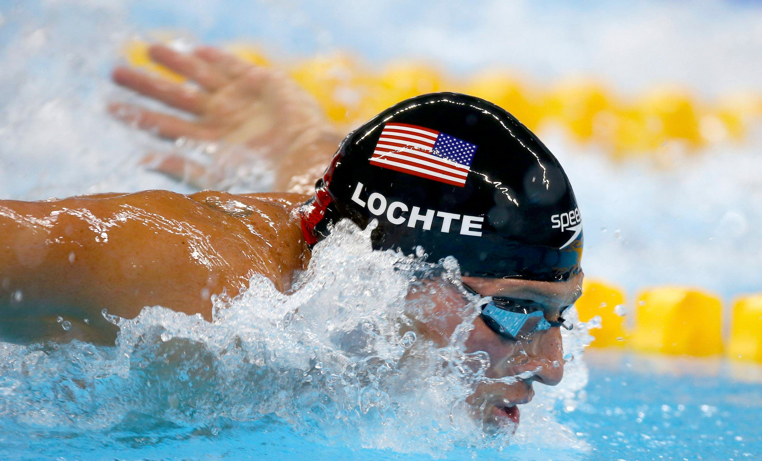 Ryan Lochte (USA) of USA competes REUTERS