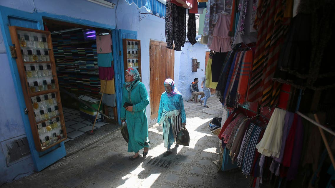 Residents walk in an alleyway in the old city of Chefchaouen, 153 miles from Rabat, in northwest Morocco. (File photo AP)