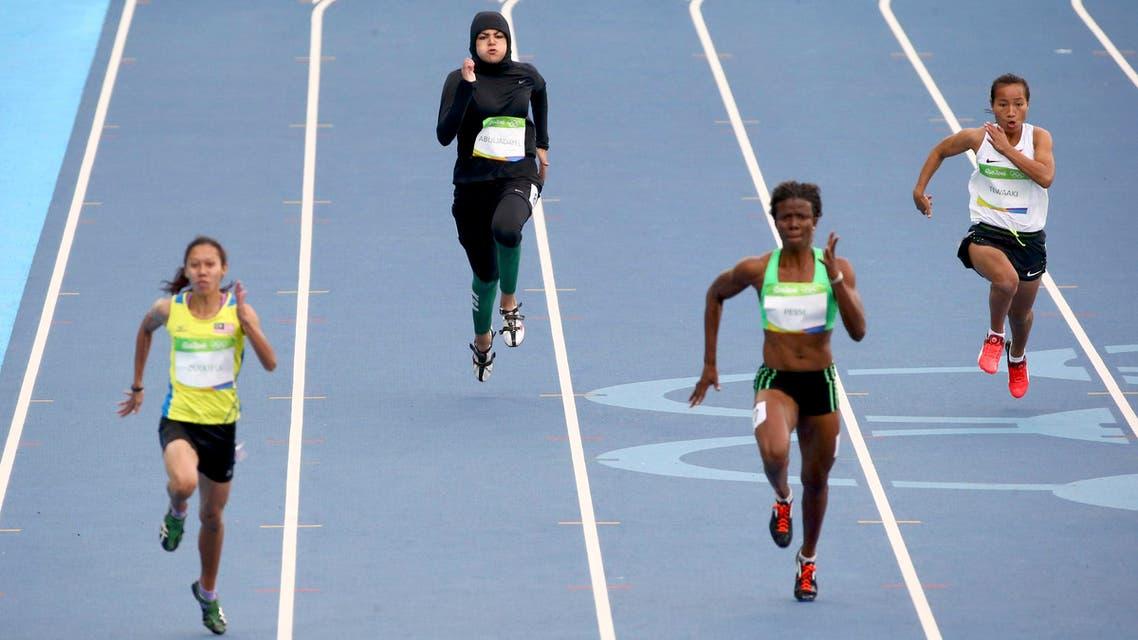Kariman Abuljadayel (KSA) of Saudi Arabia competes. (Reuters)