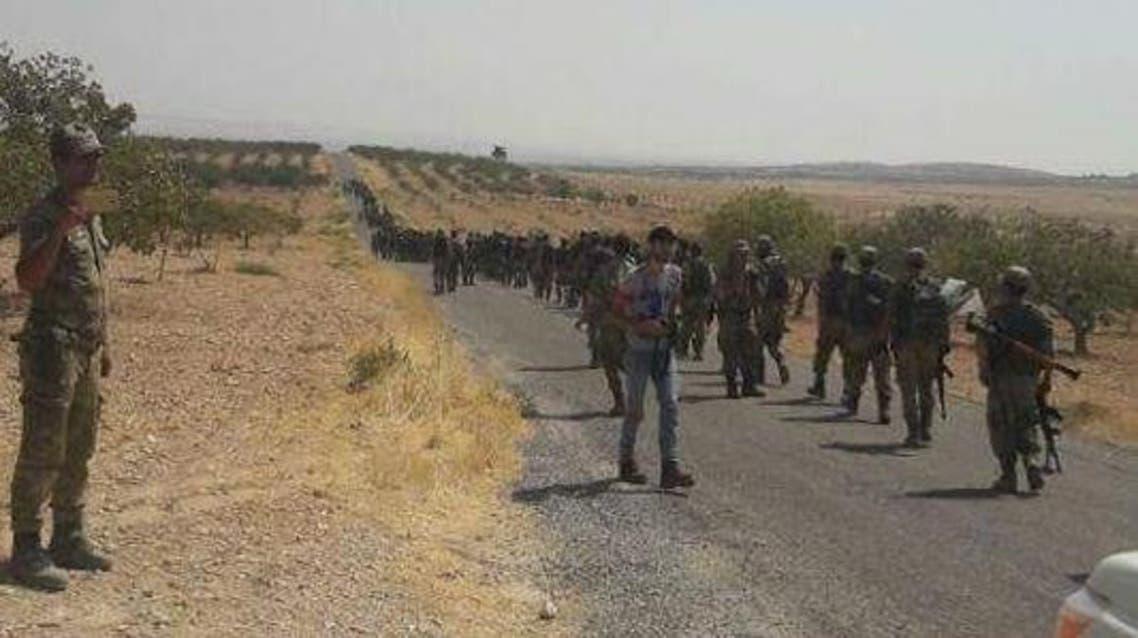 الجيش الحر قرب جرابلس