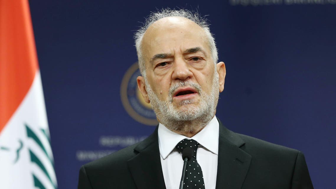 Iraqi Foreign Minister Ibrahim al-Jaafari addresses the media during a joint press briefing with his Turkish counterpart, within their meeting at the Foreign Ministry building in Ankara on July 14, 2015. (AFP)