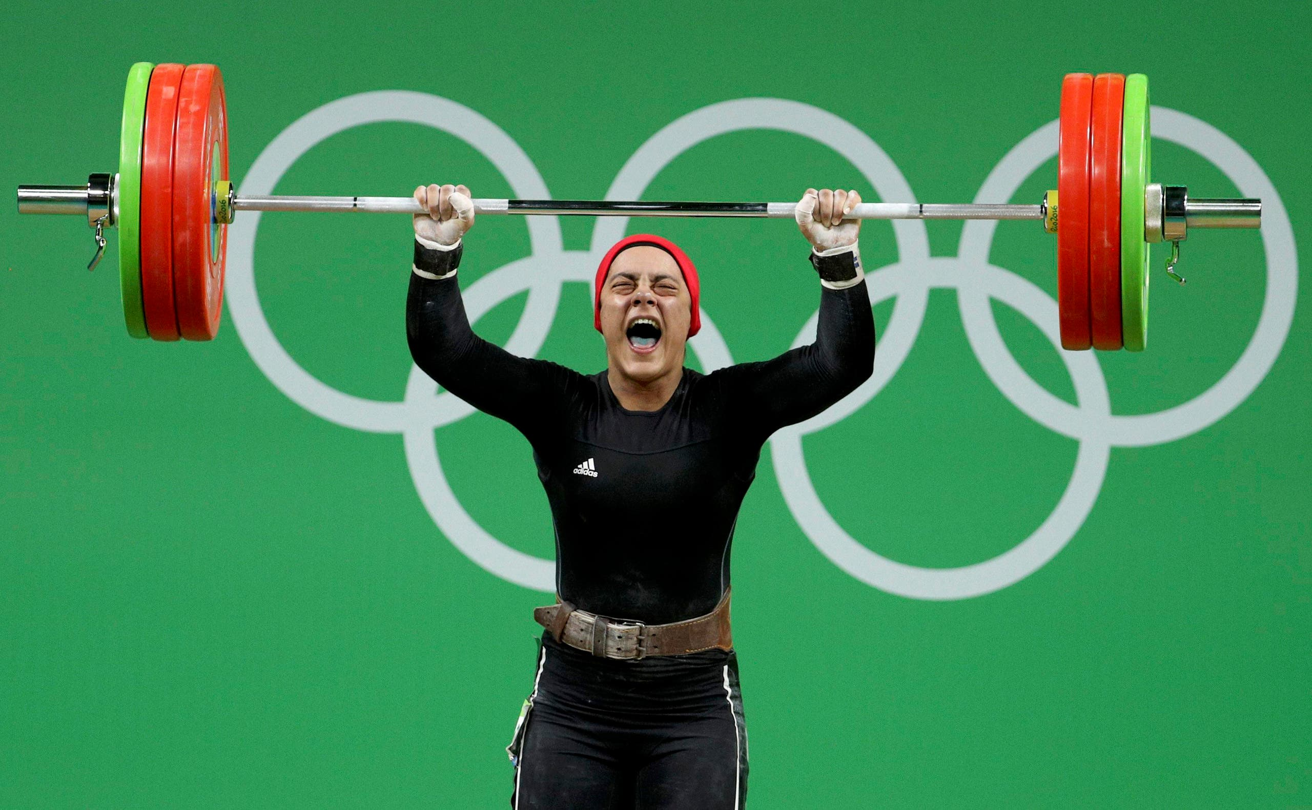 Sara Ahmed (EGY) of Egypt competes. REUTERS