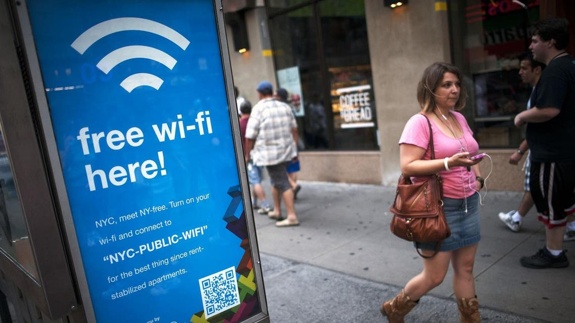 The Wi-Fi program is a public-private initiative run by CityBridge.The first units were installed in January, there are now about 350, mainly in Manhattan. (File photo: Reuters)