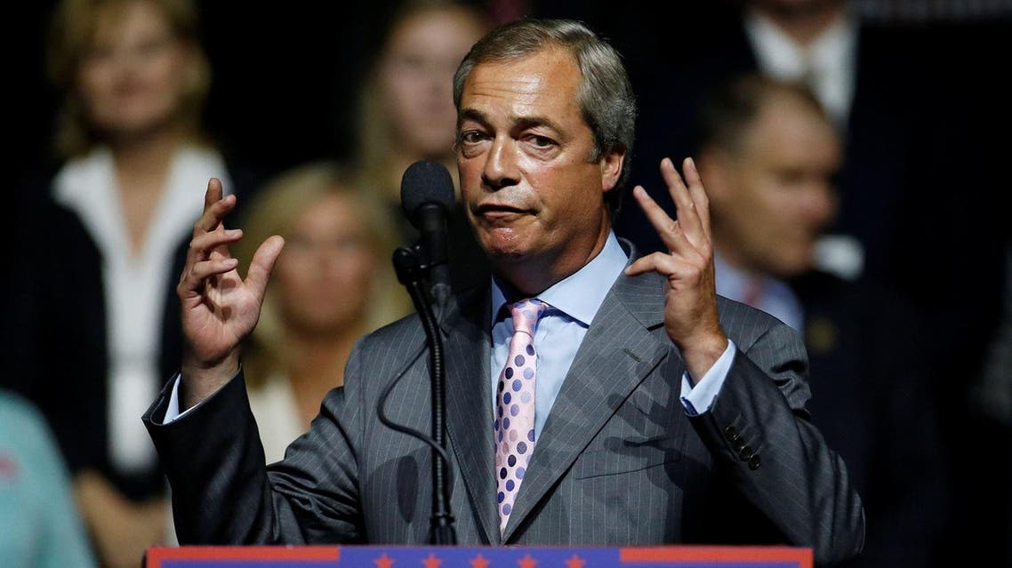 Farage partly based his Brexit drive on opposition to mass immigration to Britain that he said was leading to rapid change in his country. (Reuters)