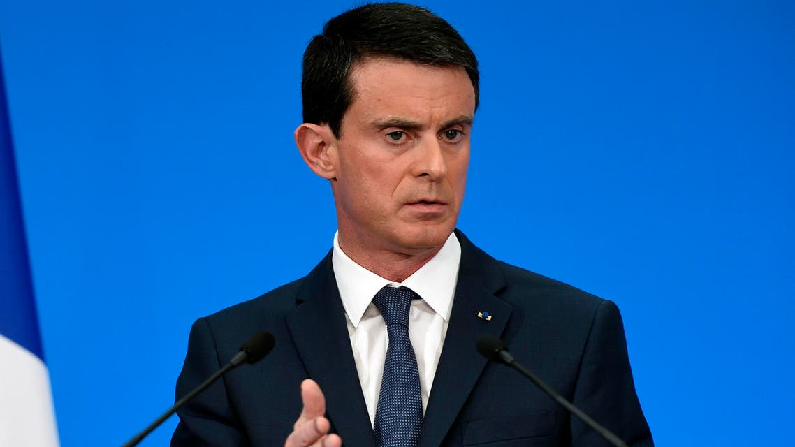 French Prime Minister Manuel Valls speaks during a press conference, at the Elysee palace Wednesday, Dec. 23, 2015 in Paris. AP
