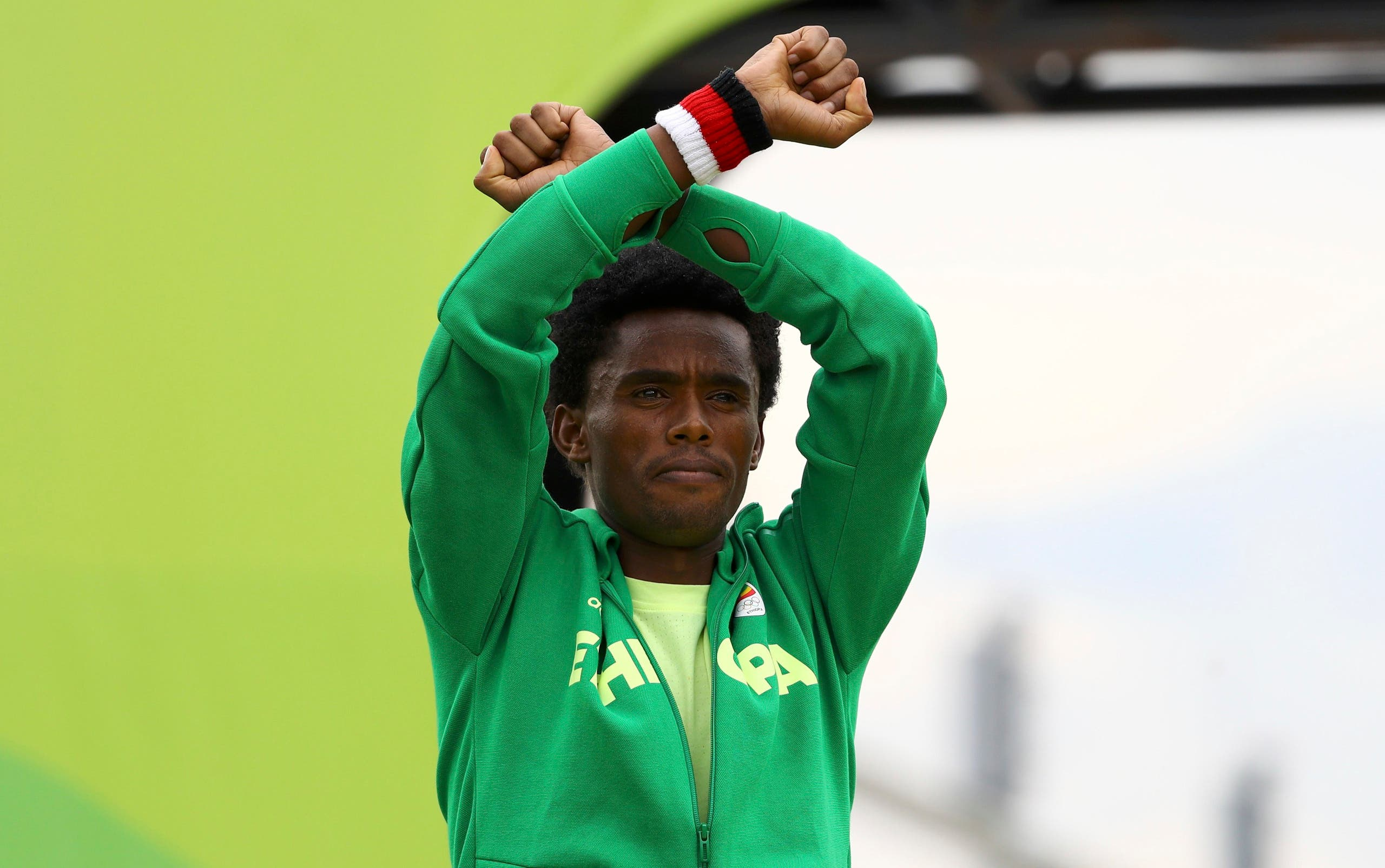 Olympic medallist Feyisa Lilesa's gesture was a plea for justice for his people. (Reuters)