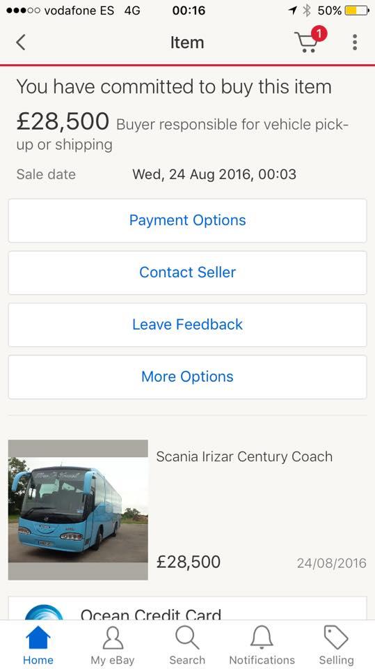 اتوبوس خریداری شده در حال مستی