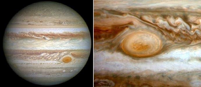 الإعصار في المشتري يظهر في معظم الصور التي تلتقطها التليسكوبات والمركبات