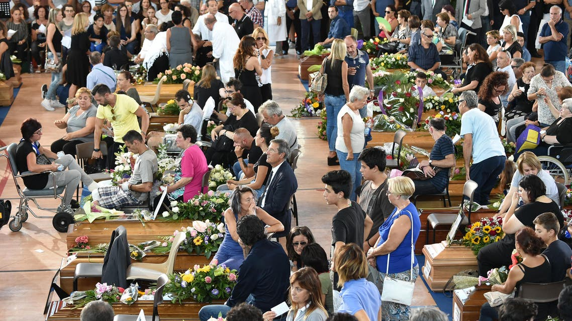 Italy grieves as state funeral is held for quake victims