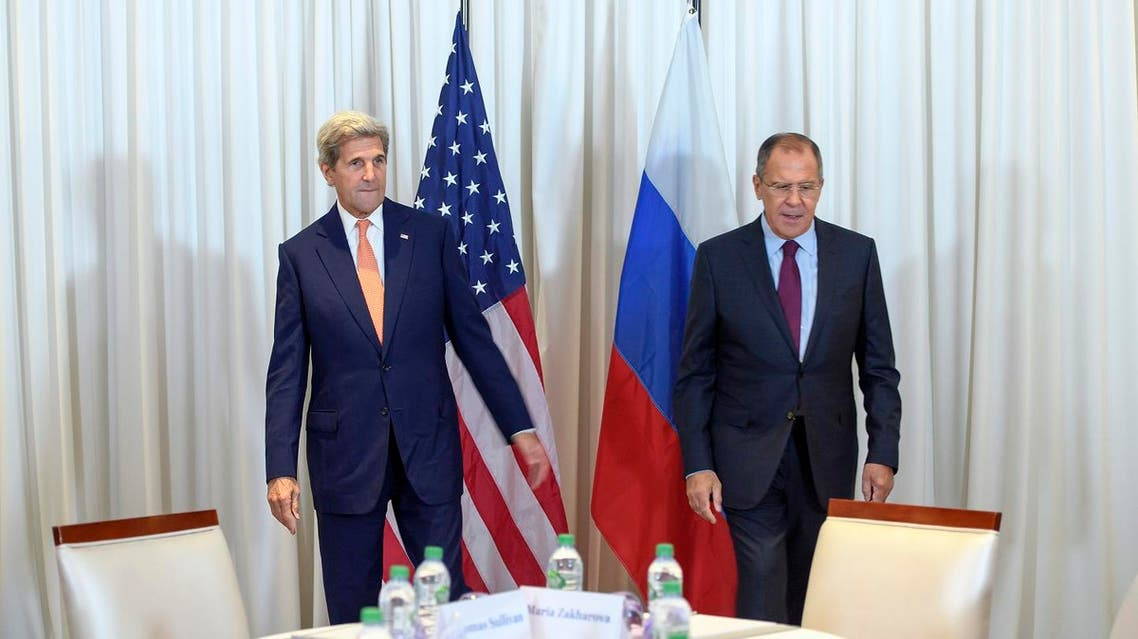 US Secretary of State John Kerry (L) and Russian Foreign Minister Sergei Lavrov met on August 26, 2016 in Geneva (Photo: Martial Trezzini/Pool Keystone/AFP)