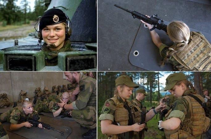 متطوعات في 4 صور، وجميعهن ينمن في غرف مشتركة مع الجنود، بلا مشاكل