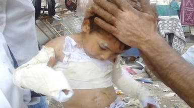 النظام السوري يحرق حي الوعر بالنابالم المحرم دولياً