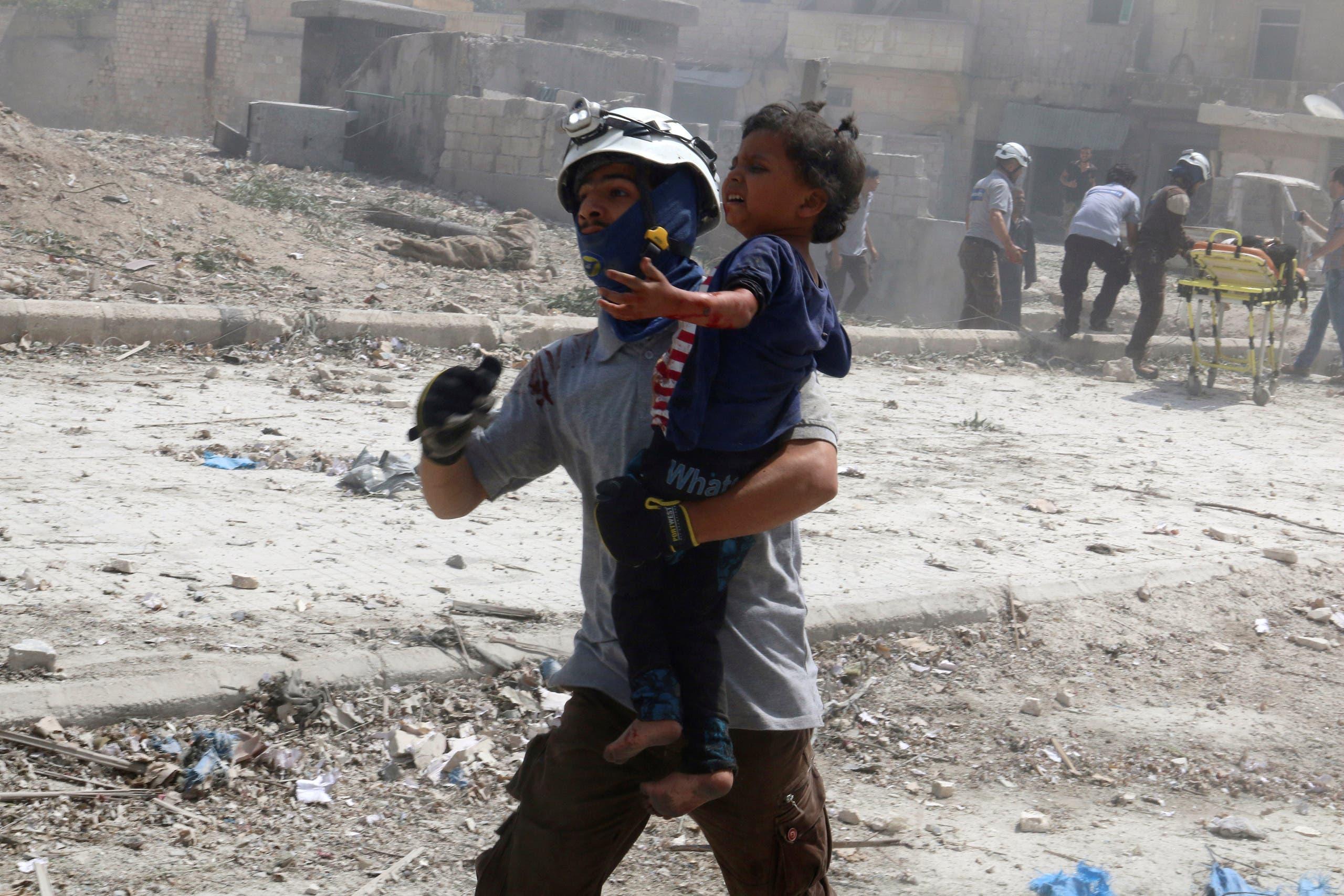 أطفال ضحايا الحرب في حلب