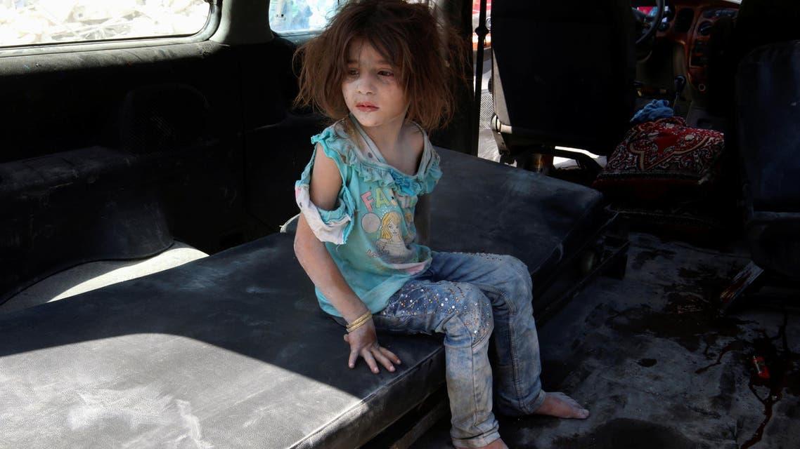 أطفال ضحايا الحرب في حلب رويترز