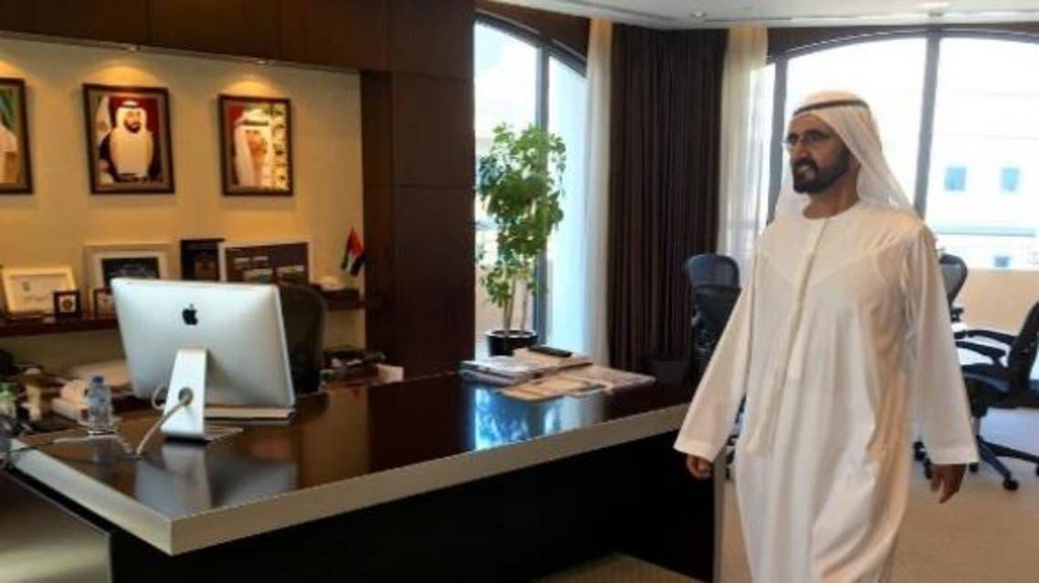 الشيخ محمد بن راشد أثناء الجولة