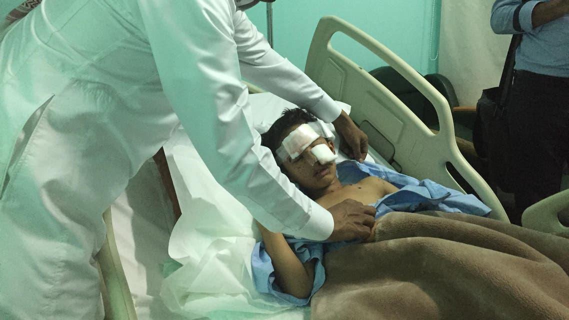 Mahdi Salah al-Abbas survived an attack on his house that killed his 3-year-old cousin Yahya. (Ismaeel Naar/Al Arabiya English)