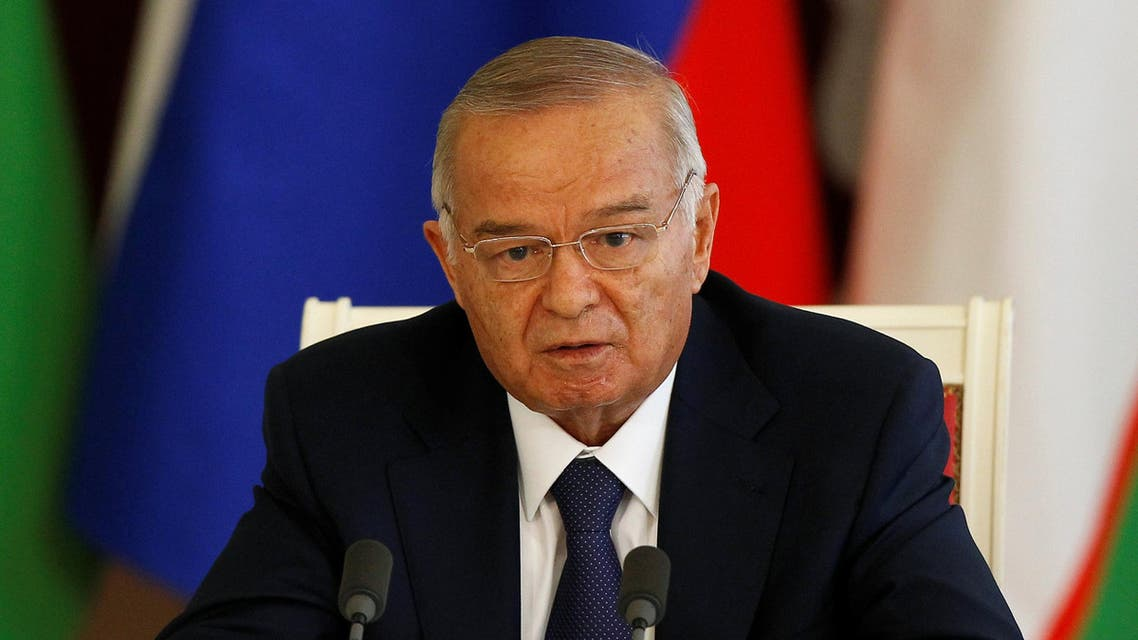 Uzbekistan's President Islam Karimov makes a statement at the Kremlin in Moscow, April 15, 2013. REUTERS