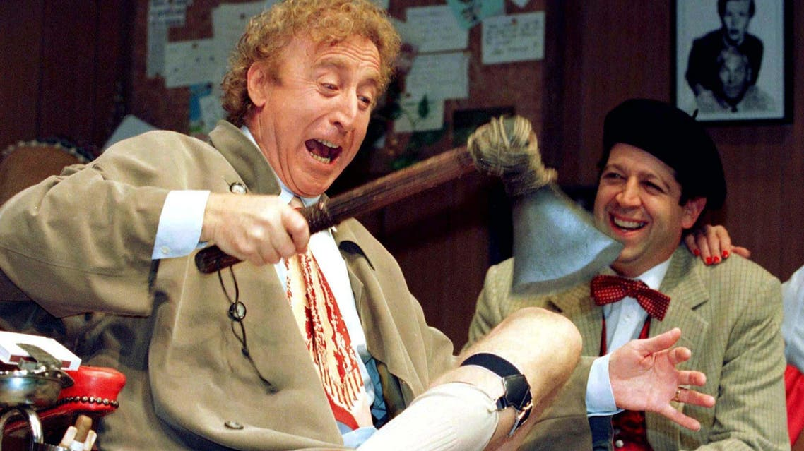 American actor Gene Wilder (L) performs alongside compatriot Rolf Saxon, during the rehearsal of a scene from Neil Simon's 'Laughter on the 23rd Floor', in New York, October 2, 1996. (Reuters)