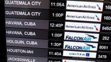 US transport chief in Cuba for first regular commercial flight