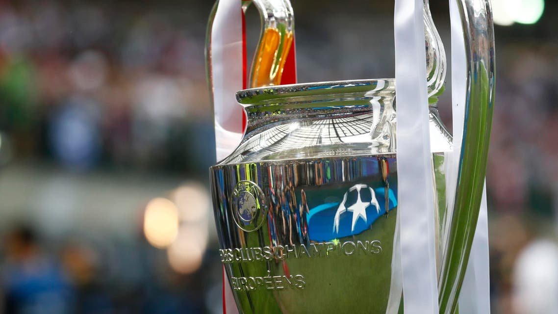 The Champions League trophy before the game reuterrs