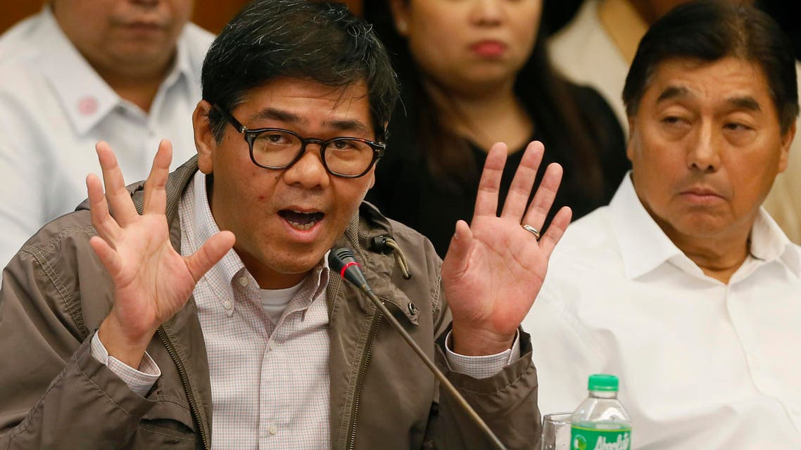 Philippine remittance company Philrem treasurer Michael Bautista speaks during continuing Philippine Senate probe on the $81 million of Bangladesh's stolen funds that were transmitted online to four private accounts at a branch of the Rizal Commercial Banking Corp. in suburban Pasay, south of Manila. (File: AP)