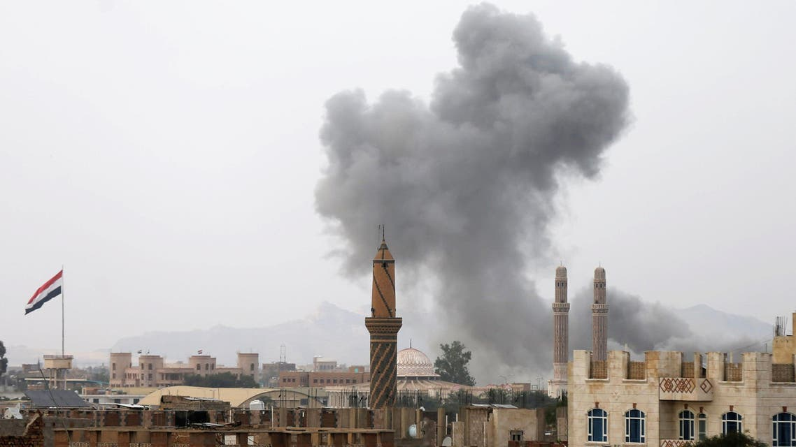Smoke rises from the site of a Saudi-led air strike in Sanaa, Yemen August 30, 2016. REUTERS/Khaled Abdullah