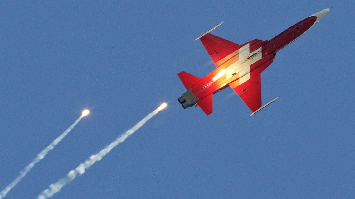 The suspected accident would be the latest in a string of crashes to befall the Swiss airforce. (AFP)