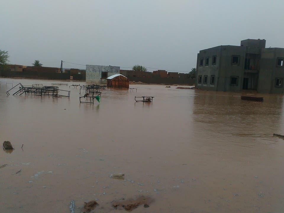 المياه غمرت مساحات كبيرة ومساكن