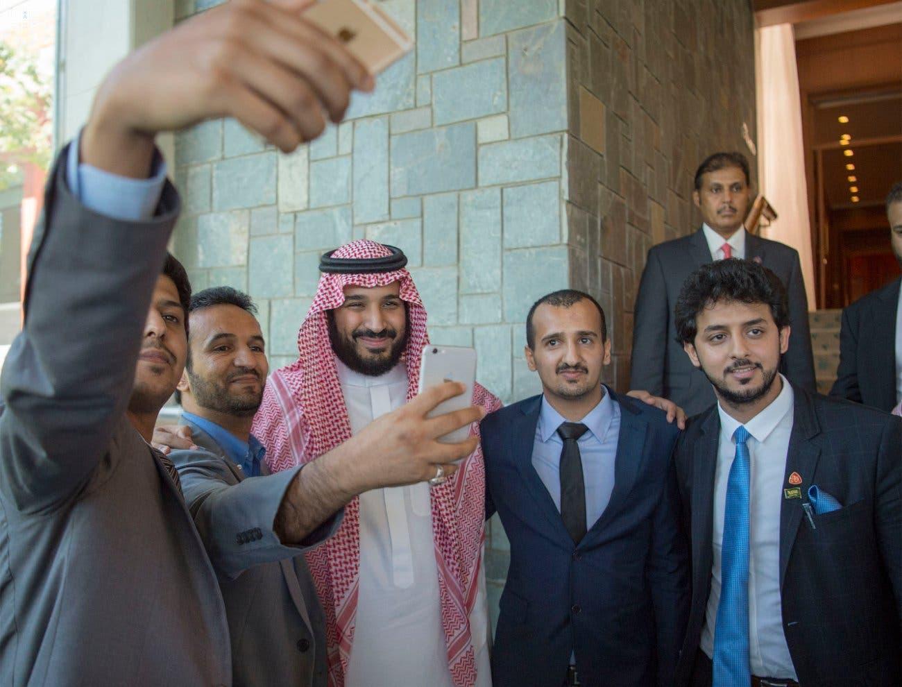 شاهزاده محمد بن سلمان و دانشجویان سعودی مقیم در چین