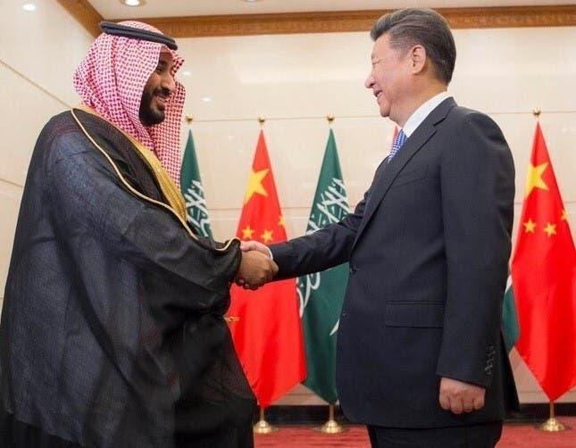 دیدار ولی ولیعهد سعودی با رئیس جمهوری چین