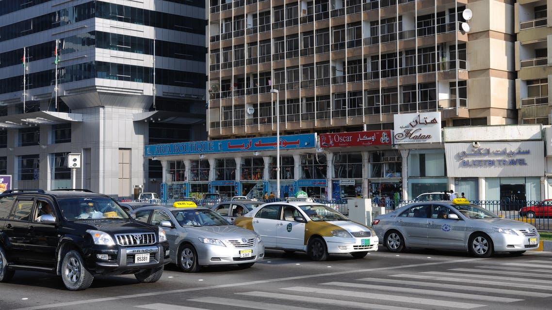 Street Scenery downtown in Abu Dhabi City. February 23, 2010 in Abu Dhabi, United Arab Emirates. shutter stock