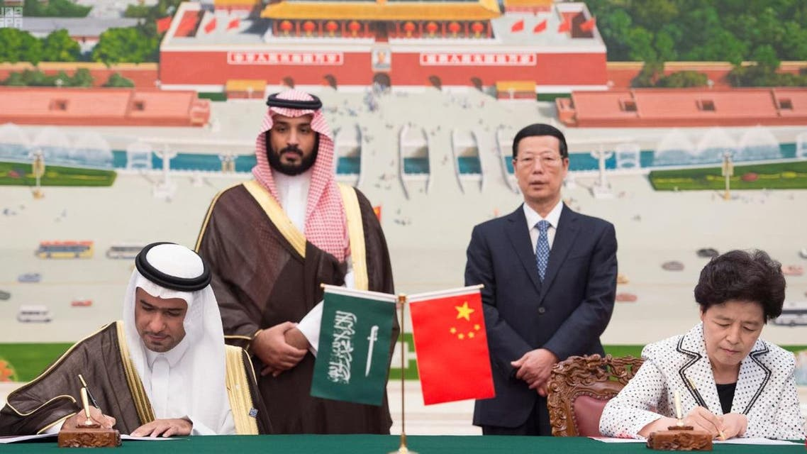 Al-Huqail also signed a memorandum of cooperation between the ministry and Ningxia Region in China to develop Al-Asfar outskirts in Al-Ahsa Province. (SPA)
