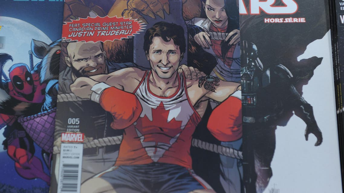 Trudeau's father Pierre, who also served as Canada's prime minister, also appeared in a Marvel comic released in 1979. (AFP)