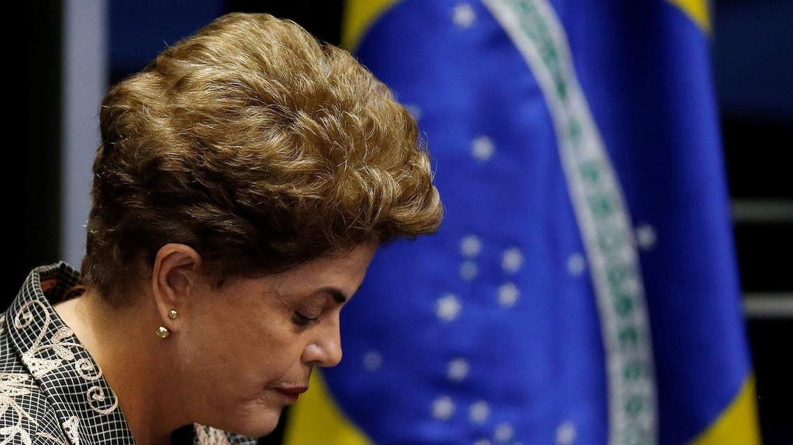 Brazil's suspended President Dilma Rousseff attends the final session of debate and voting on Rousseff's impeachment trial in Brasilia. (Reuters)