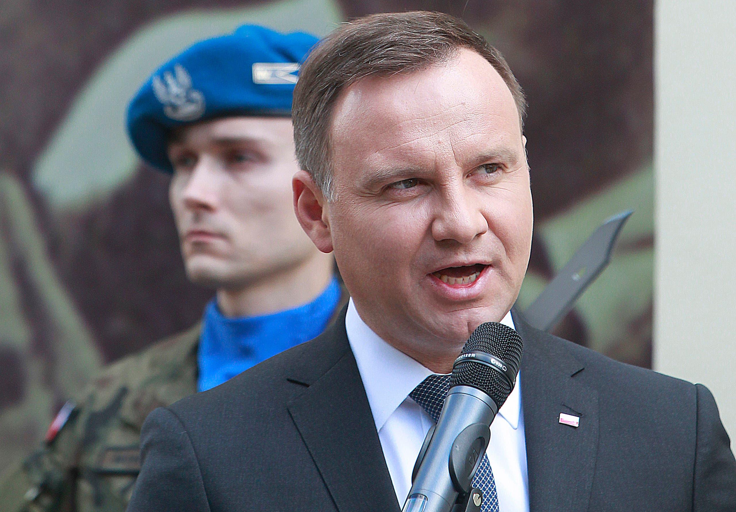 File photo of Poland's President Andrzej Duda.(AP)
