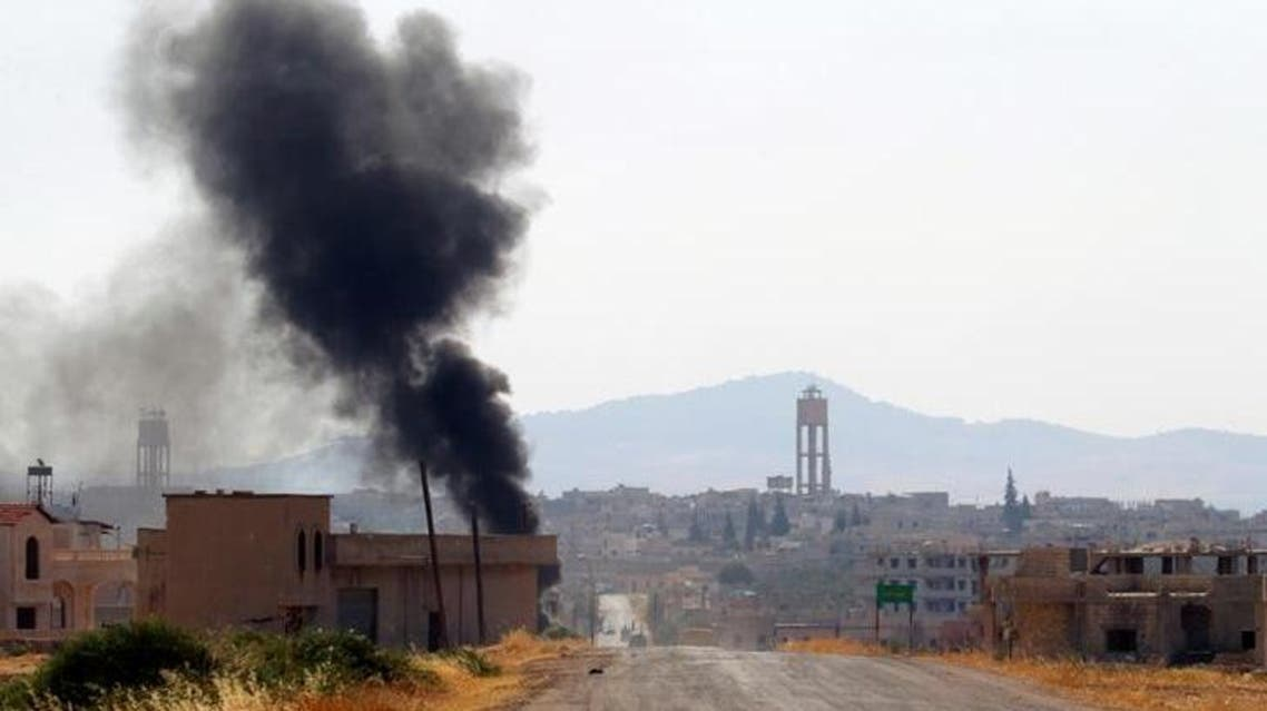 The Syrian Observatory for Human Rights said at least 17 people had been killed in the air strikes overnight. (Reuters)