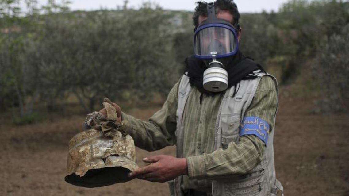 أحد المواقع المستهدفة بـ الكلور في إدلب - رويترز