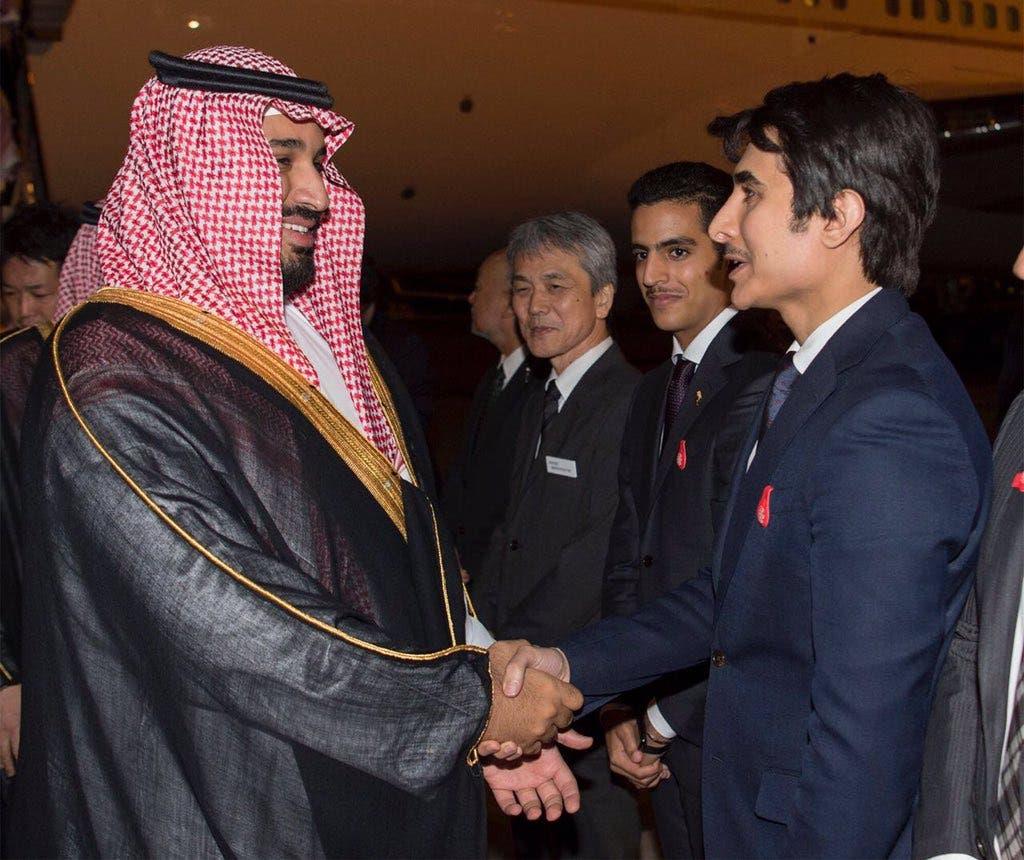استقبال از شاهزاده محمد بن سلمان در فرودگاه توکیو