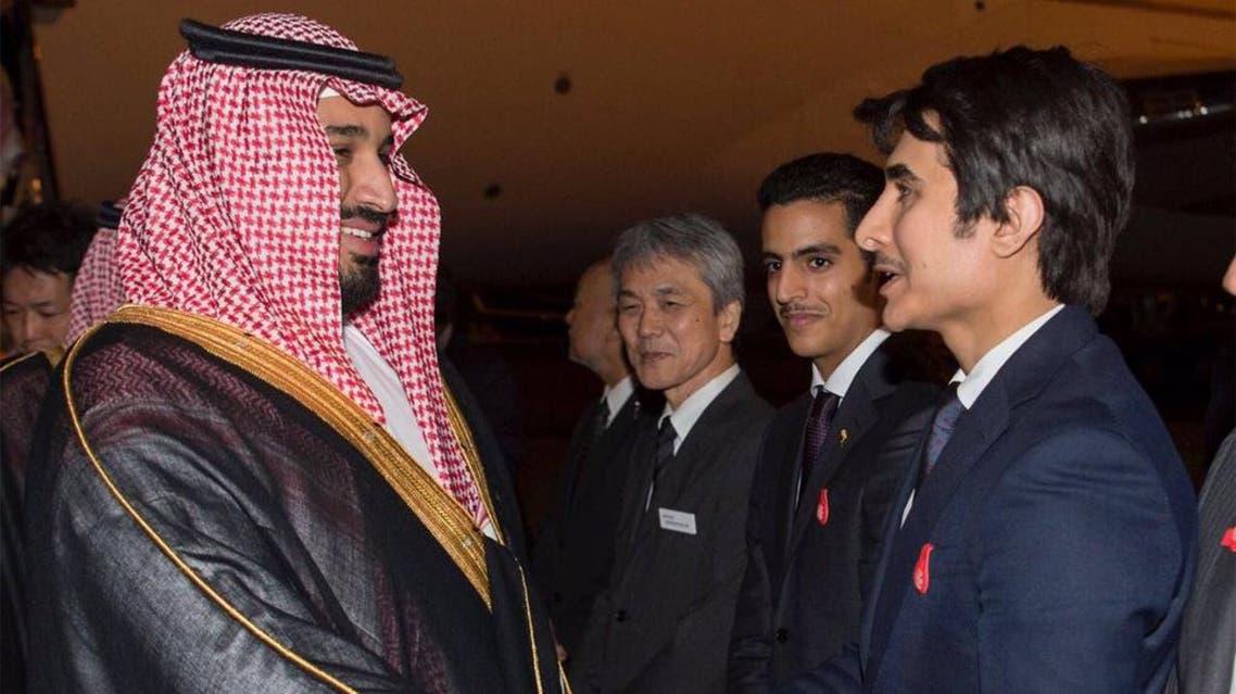 Saudi Deputy Crown Prince Mohammed bin Salman meets with Saudi delegation to Japan. (SPA)